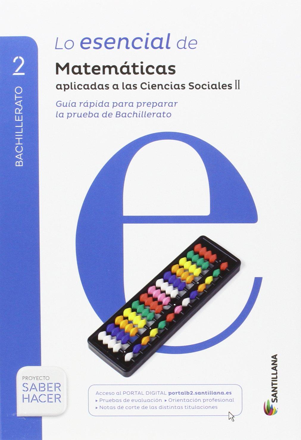 MATEMATICAS APLICADAS A LAS CIENCIAS SOCIALES II SERIE RESUELVE 2 BTO SABER HACER - 9788414102022: Amazon.es: Vv.Aa.: Libros