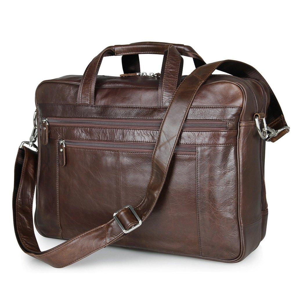 SHISHANG Herren-Leder-Geschäft-Herren-Tasche große Leder Herren-Tasche 17-Zoll-Computer-Tasche ZYXCC