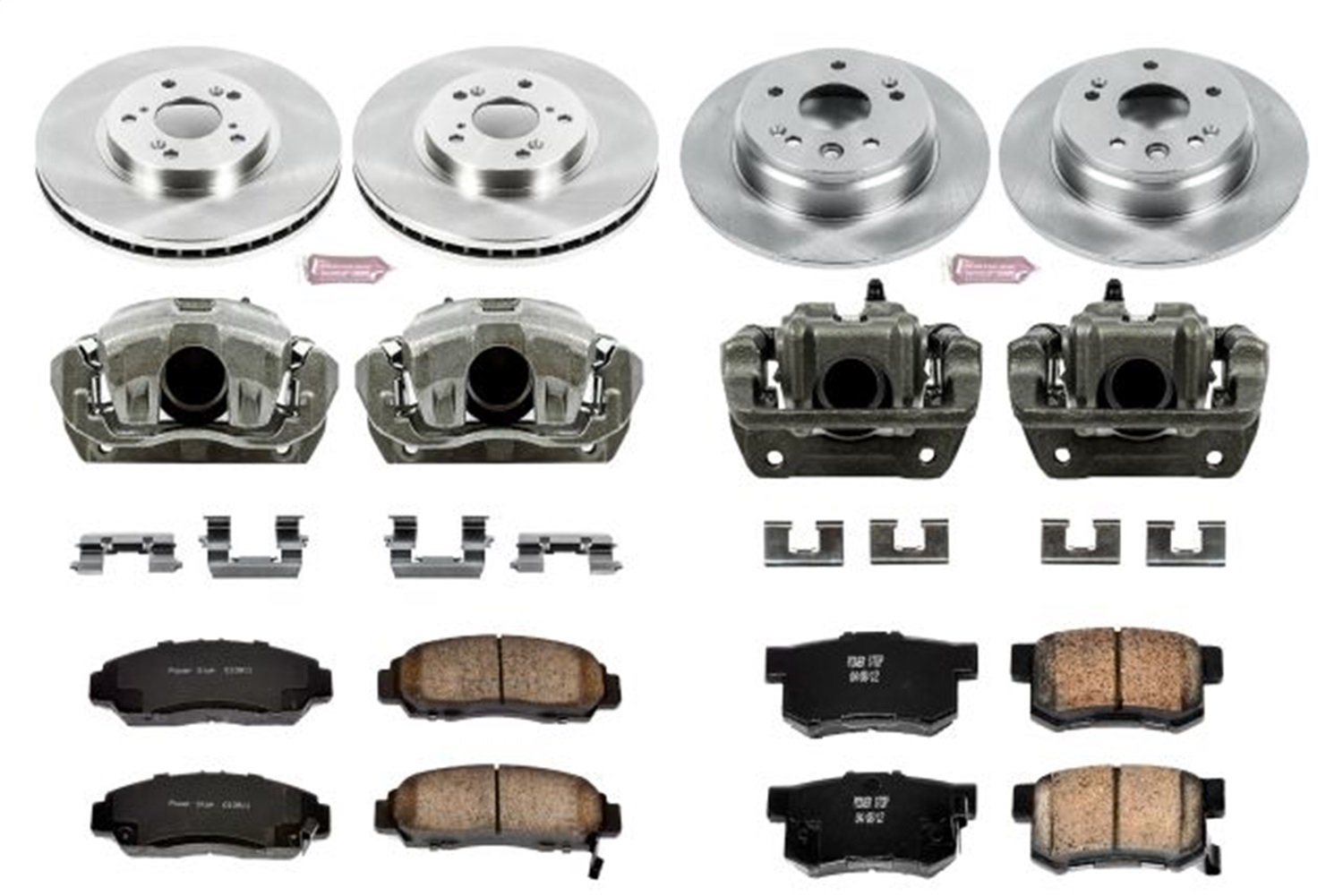 Power Stop KCOE2295 Autospecialty 1-Click OE Replacement Brake Kit with Calipers