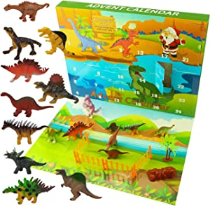 Ogrmar Dinosaurs Advent Calendar for Kids 2020 Christmas Countdown Calendar with 24 Pcs Animal Toy for Childrens