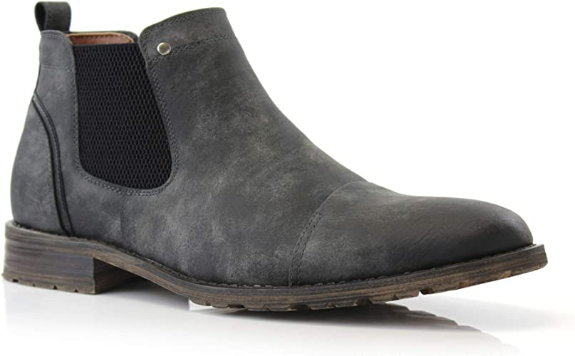 Ferro Aldo Sterling MFA606325 Mens Casual Chelsea Slip on Ankle Boots
