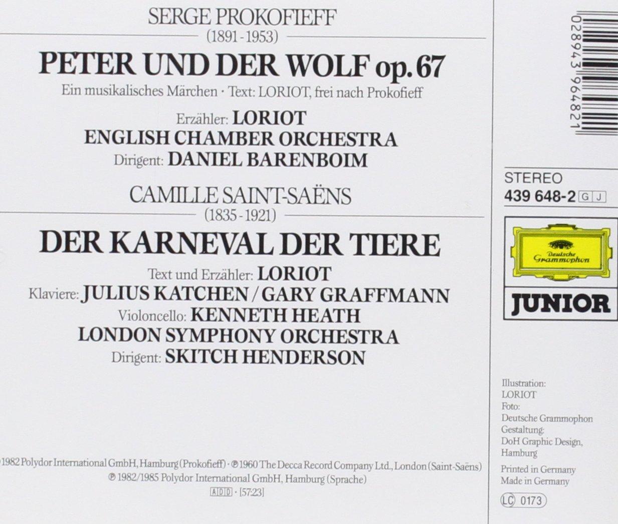 Loriots Peter und der Wolf / Karneval der Tiere - Loriot, Barenboim ...