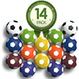 Colonel Pickles Novelties Foosball Table Replacement Foosballs- 14 Pack - 36mm Game Tabletop Size - Multi Colored…