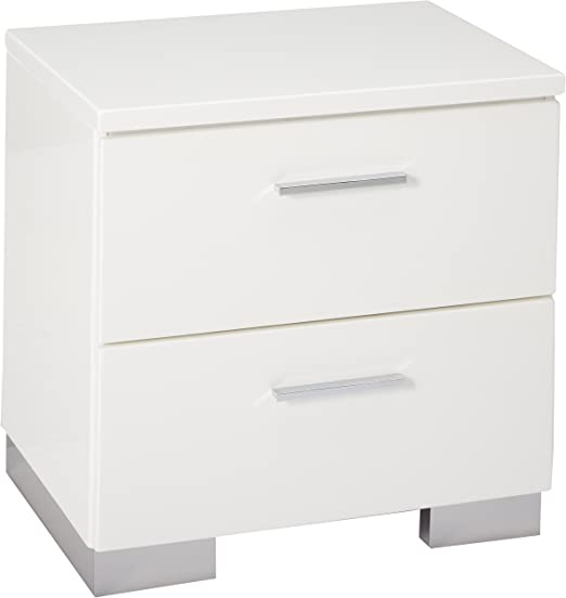 Felicity 2-drawer Nightstand Glossy