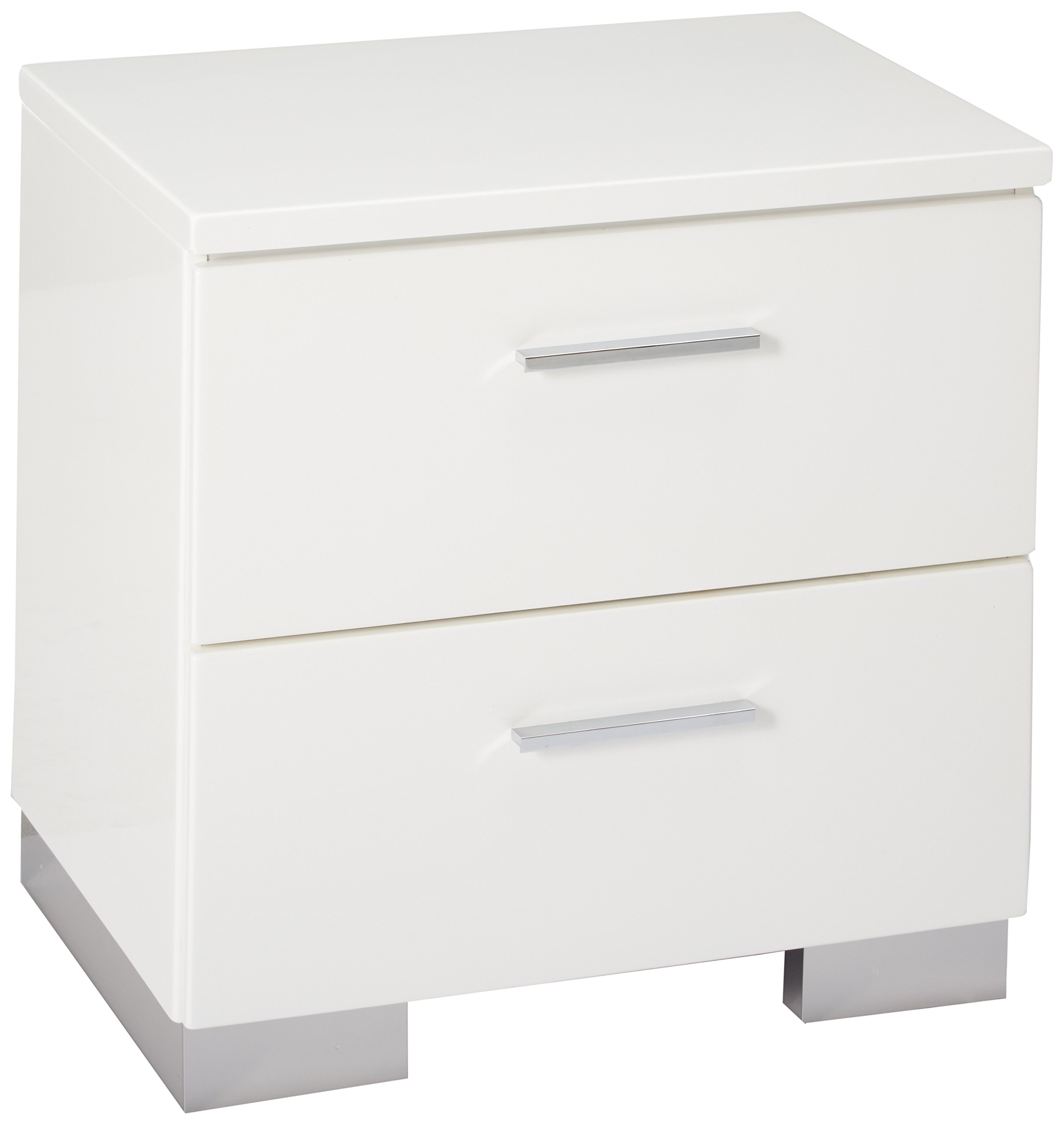 Felicity 2-drawer Nightstand Glossy White by Coaster Home Furnishings