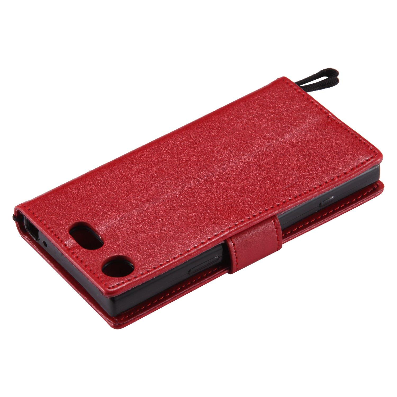 Lomogo Coque Sony Xperia XZ1 Compact LOKTU20995 Bleu Housse en Cuir Portefeuille avec Porte Carte Fermeture par Rabat Aimant/é Anti Choc Etui de Protection pour Sony Xperia XZ1 Compact