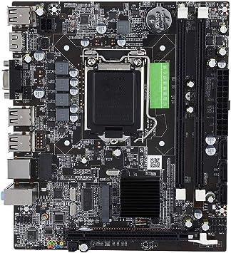 Placa base LGA 1156, DDR3 USB2.0 SATA2.0 Toma de corriente de 4 pines, conector