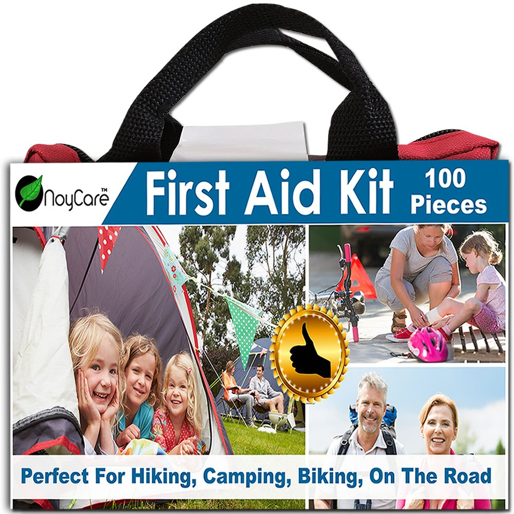 First Aid Kit-100pcs of Professional Supplies: for Easy Care of Trauma-with Small, Cute Bag for Backpack-perfect for Boy Scout, Girl Scout, Car, Baby, Family, Sports, On The Road