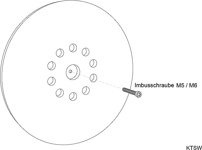 Plato de soporte /• Almohadilla /• autoadherente con velcro /• repuesto lijadora de cuello largo /• pulidora /• amoldadora /• Powerplus X0476 X0477 y X0478