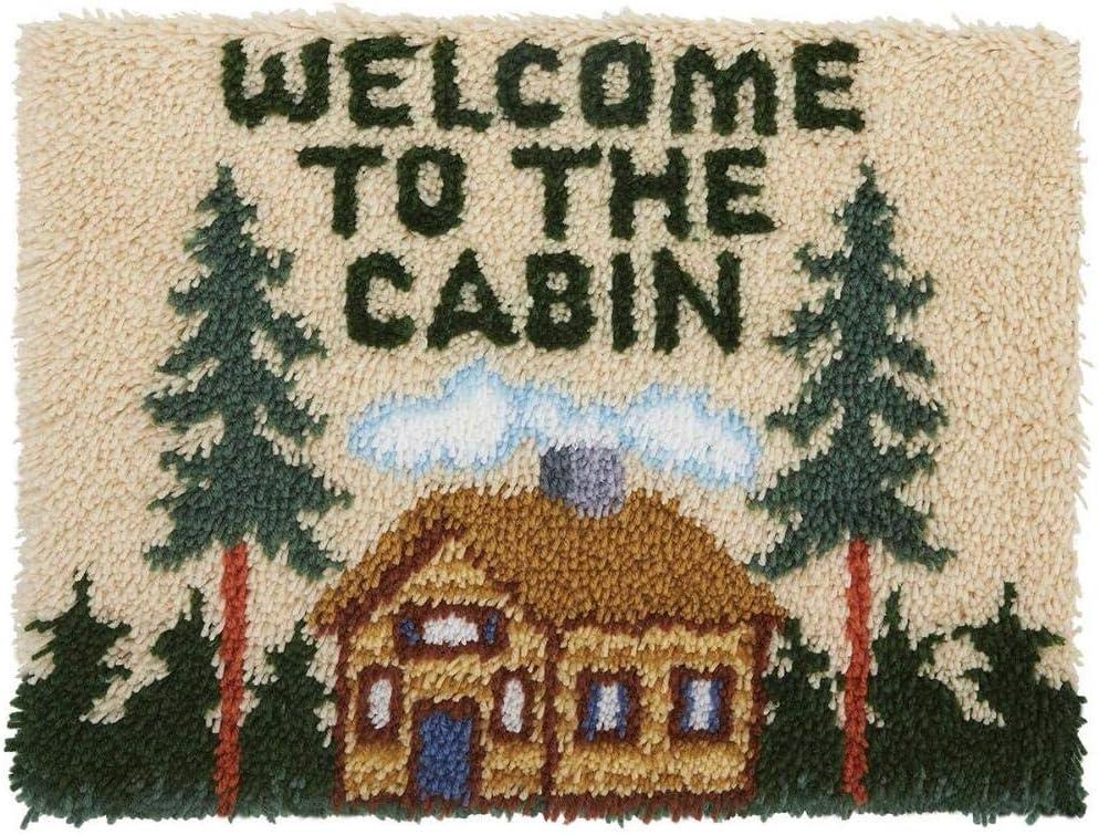 Cozy Cabin Rug Hooking Kit