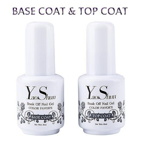 X Polish Semi Led 2 Top Base 8ml Ongles Nail Vernis Gel Coat Off Y Uv À Soak Permanent amp;s Et 80kwPnO