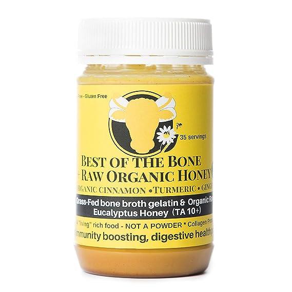 Gelatina de caldo de hueso de vacuno orgánico con miel, cúrcuma y jengibre - Apoya
