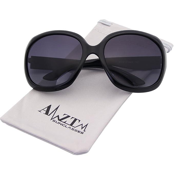 AMZTM Women Polarized Sunglasses Classic Simple Driving Shades Retro  Oversized Goggles All-match Large Frame de74c4c3c7
