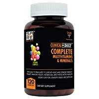 CLINICAL DAILY COMPLETE Whole Food Multivitamin Supplement For Women & Men. 120...