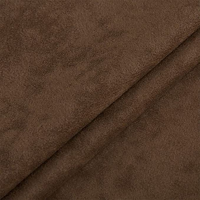 Microfibre, Velours, Upholstery Fabric, Decorative Fabric, Plain, Sold by the Metre, Brown: Amazon.de: Küche & Haushalt