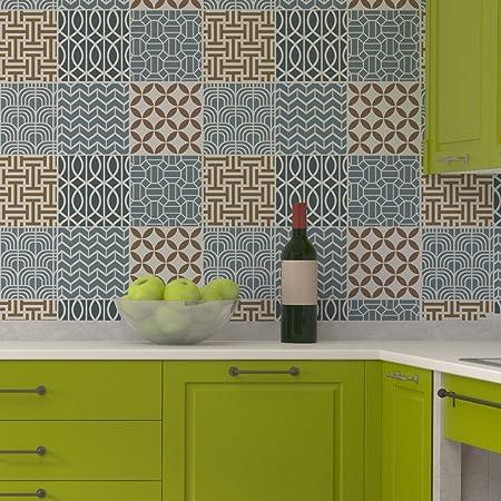 J BOUTIQUE STENCILS Geometric Tile Stencil Set For Wall Decor Unique Kitchens With Backsplash Decor