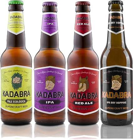 Cerveza KADABRA Pack degustación avanzada de 12 unidades de 33cl: Amazon.es: Alimentación y bebidas