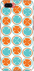 Stylizedd Oppo A3s Slim Snap Basic Case Cover Matte Finish - Citric Circles