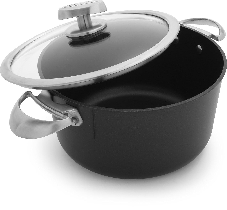 Scanpan PRO IQ Nonstick Covered Dutch Oven, 6.5 quart, Black