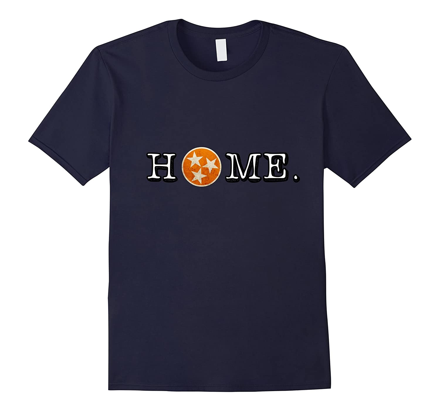 Tennessee State Flag Orange and White Home Tee Shirt Vintage-Art