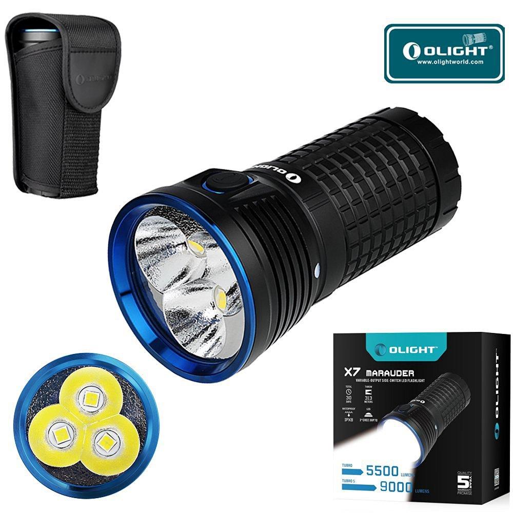 Bundle: Olight X7 Marauder CREE XHP 70 LED 9000 Lumen Taschenlampe Cool/natürliches weißes Licht, X7 Marauder(stand-alone)