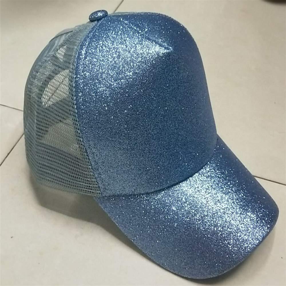 zhuzhuwen Sombrero de Mujer de algodón Cola de Caballo Gorra de ...