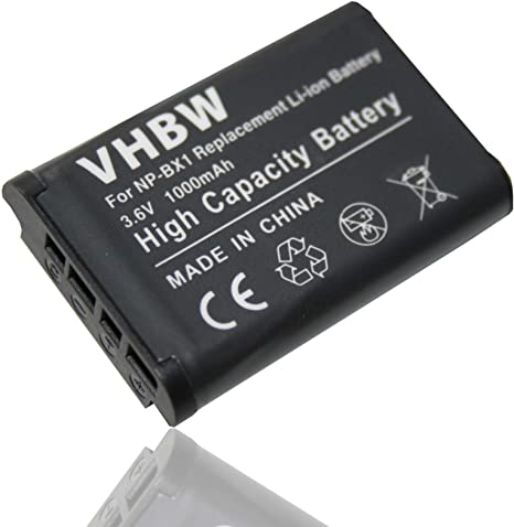 USB Ladegerät 2x Battery Akku NP-BX1 1000mAh für Sony Cyber-Shot DSC-HX400V