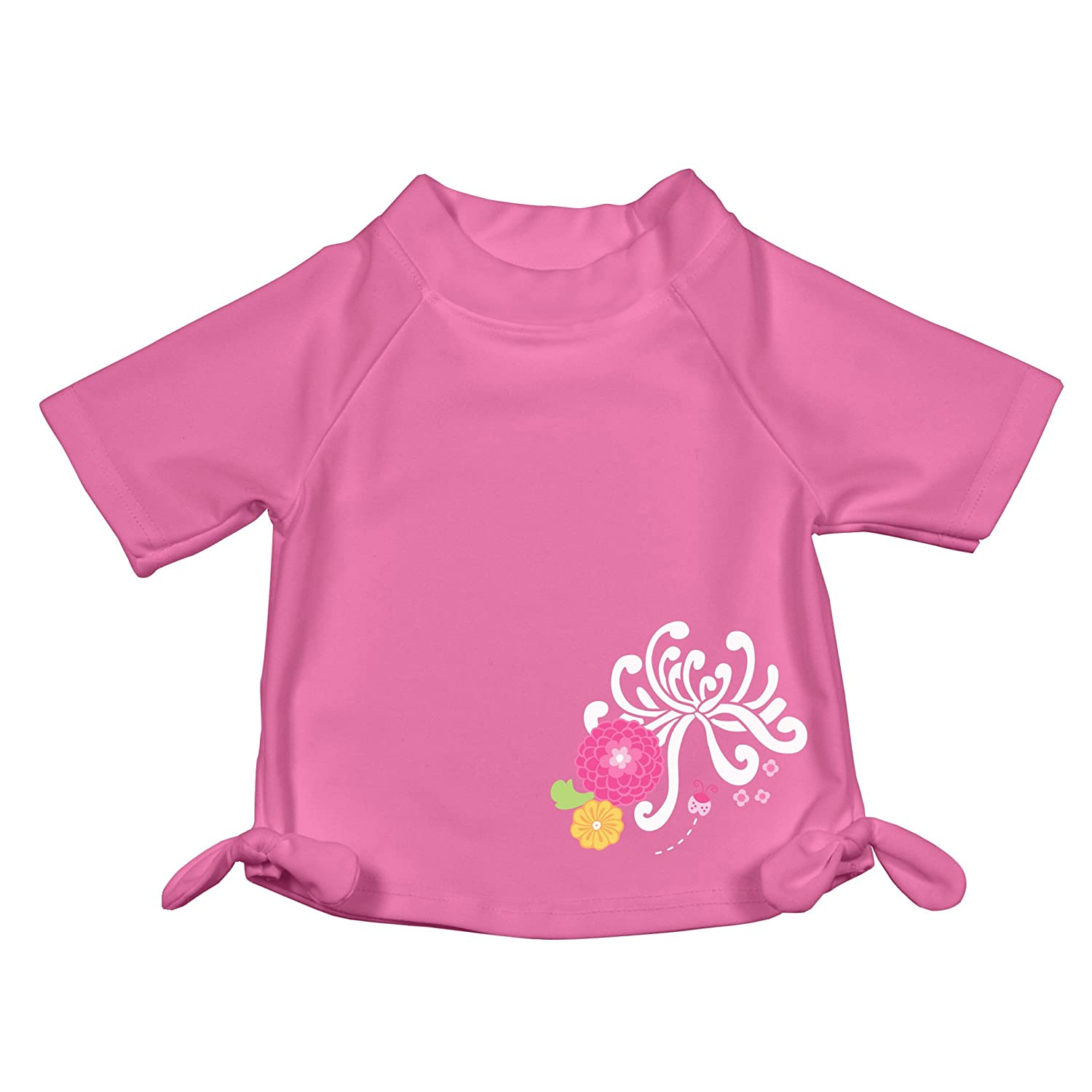 i play. Baby & Toddler Girls' Short Sleeve Bow Rashguard UPF 50+ Pink 6 Months 760150