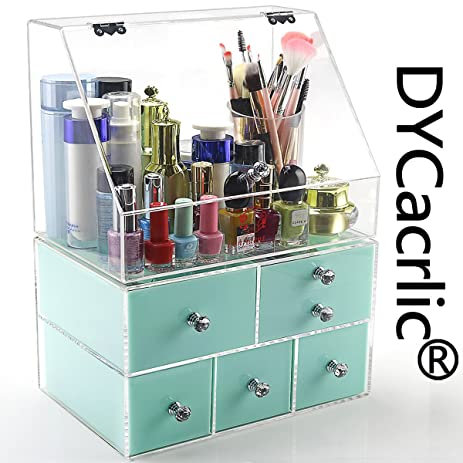 acrylic modern bathroom countertop vanity organizer large storage for girls women beautypersonal care - Bathroom Countertop Storage