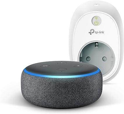 Echo Dot 3 Gen Anthrazit Stoff Tp Link Hs100 Smarte Wlan Steckdose Funktioniert Mit Alexa Alle Produkte