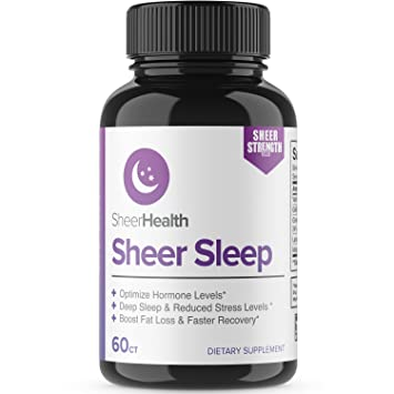 Natural Herbal Sleep Aid - Non Habit Forming Sleeping Pills with Melatonin, Valerian Root,