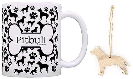 pitbull christmas ornament pitbull coffee mug tea cup bundle dog lover stocking stuffer