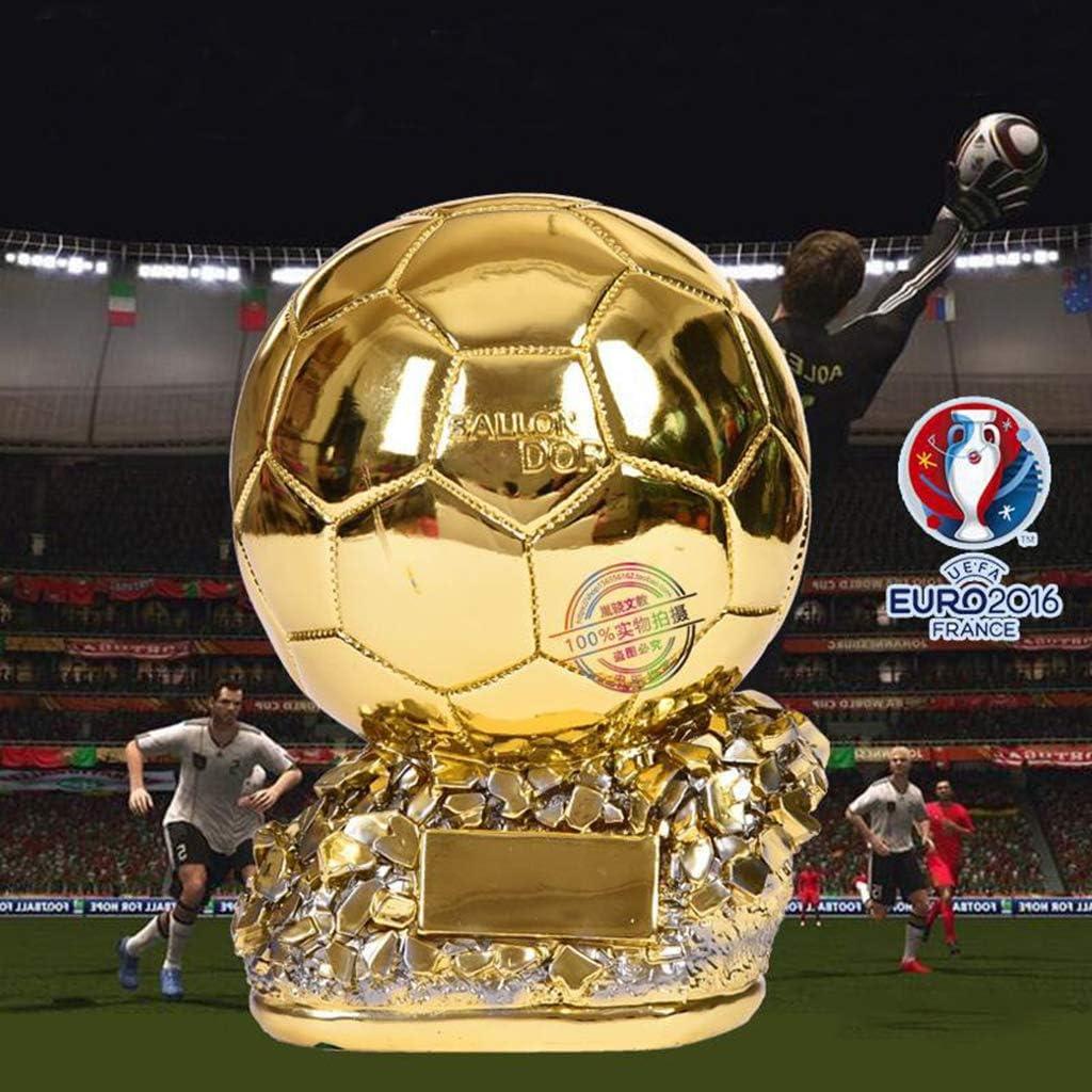 ZYAM Best Player Award Trophy Europapokal Fu/ßballmeister Golden Resin Troph/äen Replik Fu/ßball Trophy Fu/ßball Fan Souvenir Dekoration