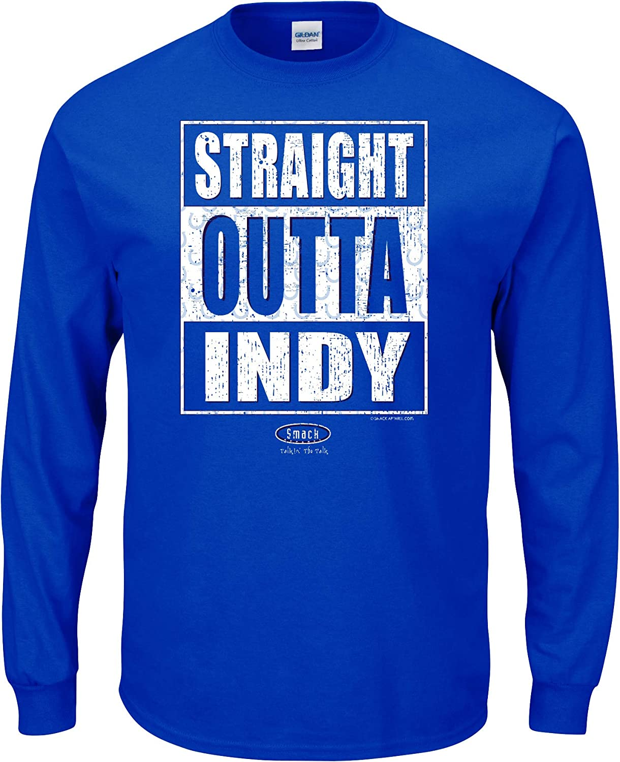 Smack Apparel Indianapolis Football Fans Sm-5X Straight Outta Indy Royal T-Shirt