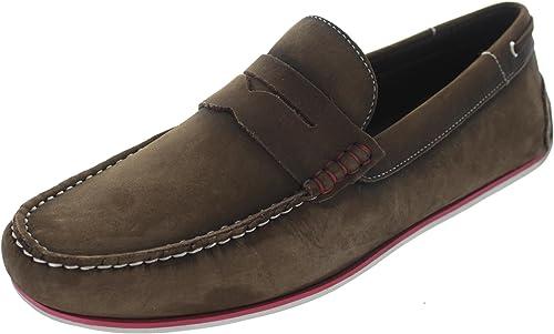 Savelli 6813cfvir - Mocasines de Piel Para Hombre Marrón Marrón, Color Marrón, Talla 44: Amazon.es: Zapatos y complementos
