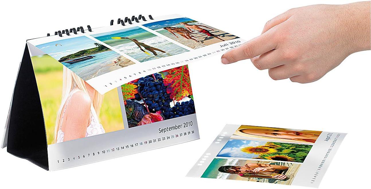Tischkalender-Set A6 hoch 260g//m² DIY-Kalender Foto-Kalender