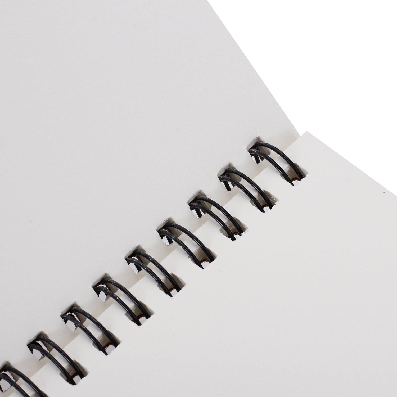 Pinzhi Carnet de Croquis R/étro Cahier /à Spirales avec Reliure Couverture de Papier Kraft