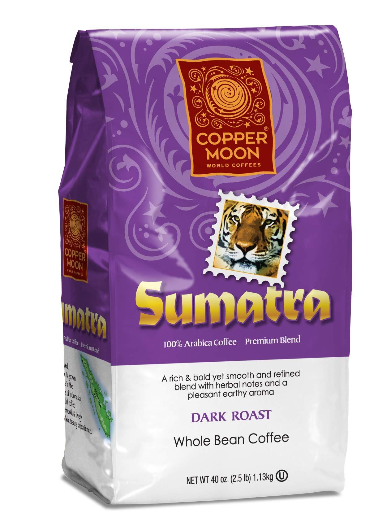 Copper Moon Coffee Sumatra Blend 2.5 pound Whole Bean