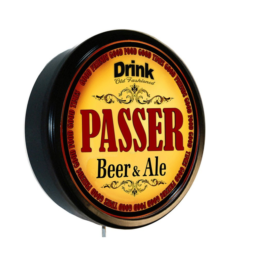 Amazon.com: PASSER Beer and Ale Cerveza Lighted Wall Sign: Home & Kitchen