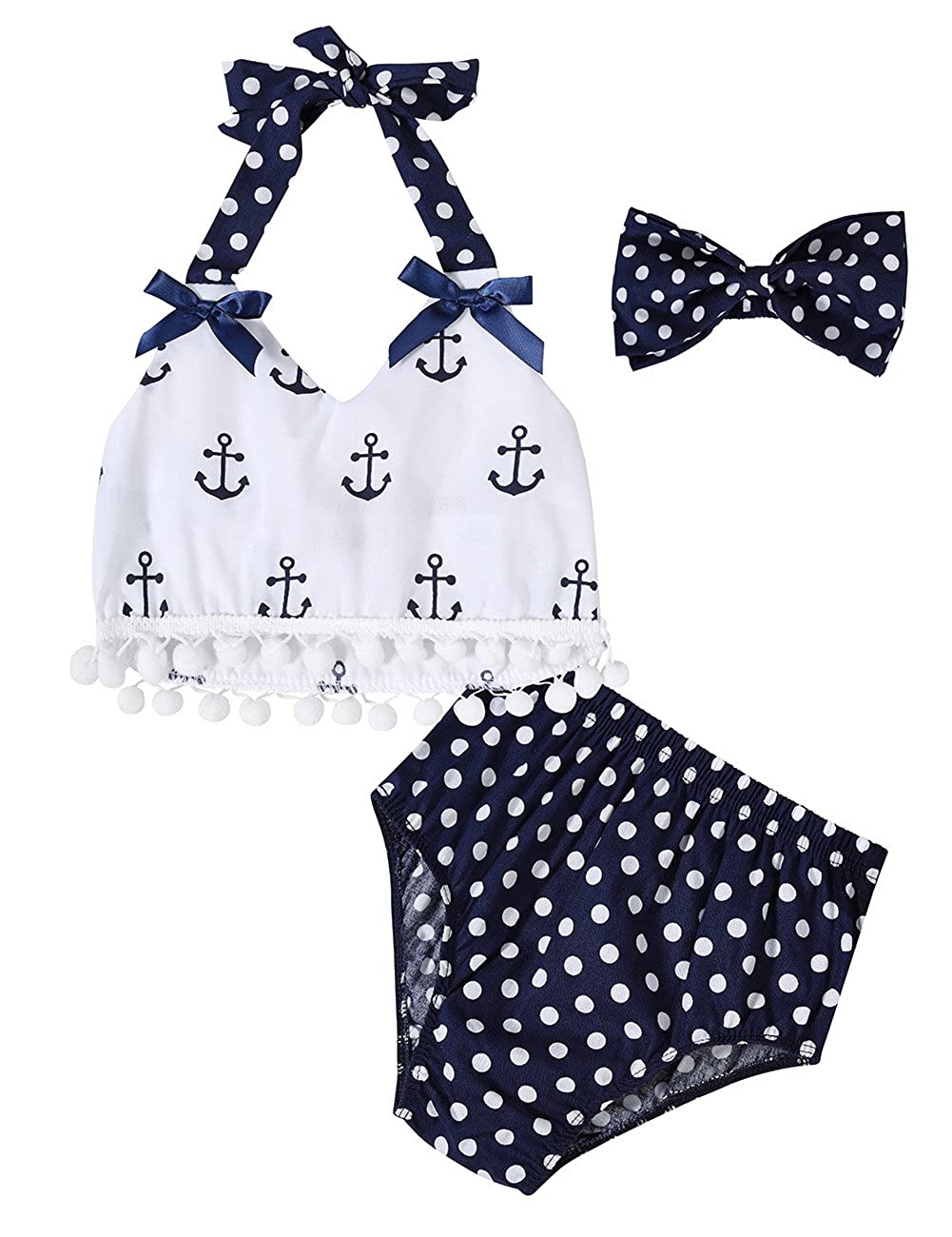 Gprince Infant Baby Girls Clothes Tops Polka Dot Briefs Outfits Set Sunsuit JF-lcl20170605-4-01