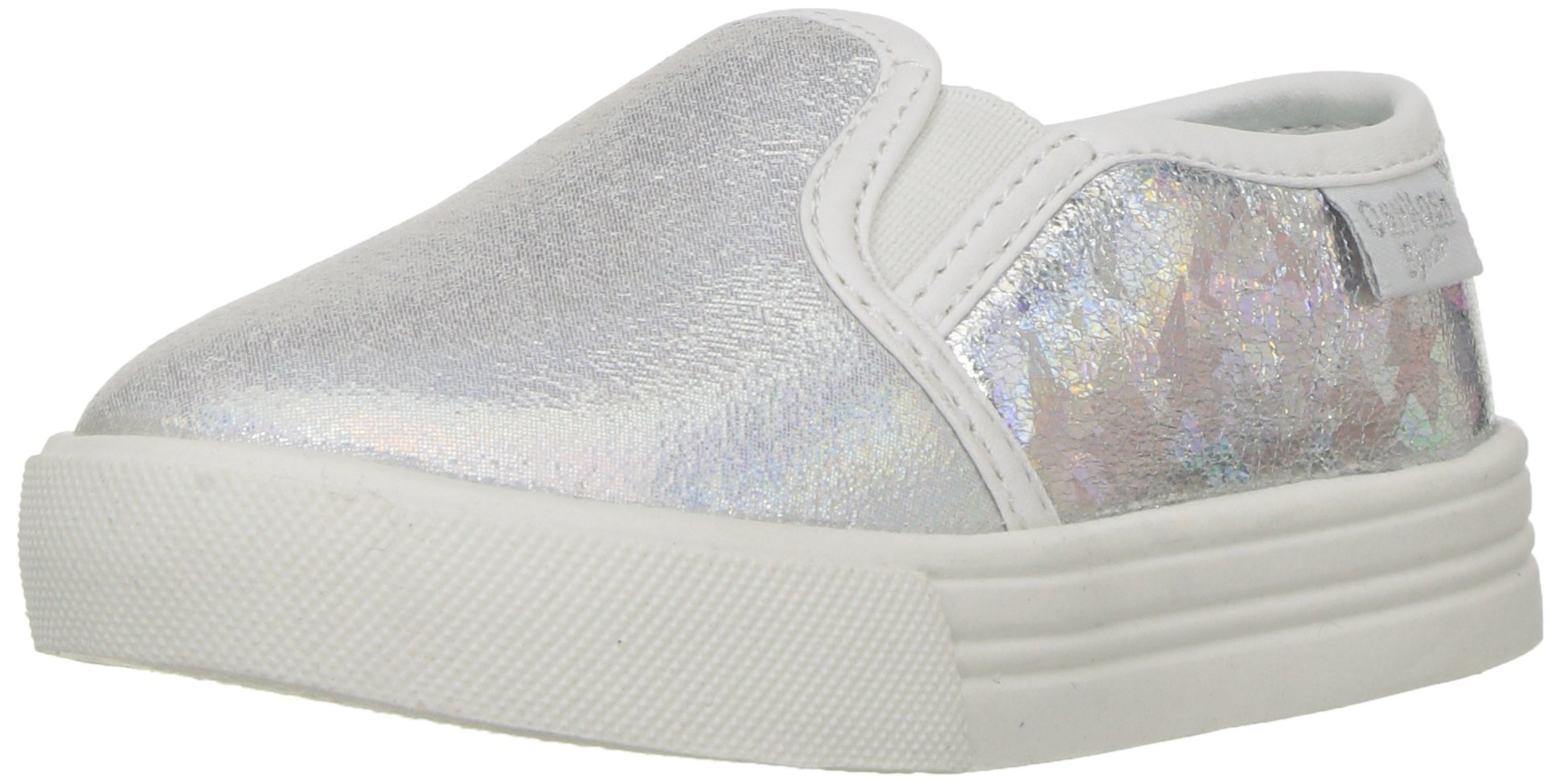 OshKosh B'Gosh Edie Girl's Casual Slip-On Sneaker, Multi Color, 6 M US Toddler