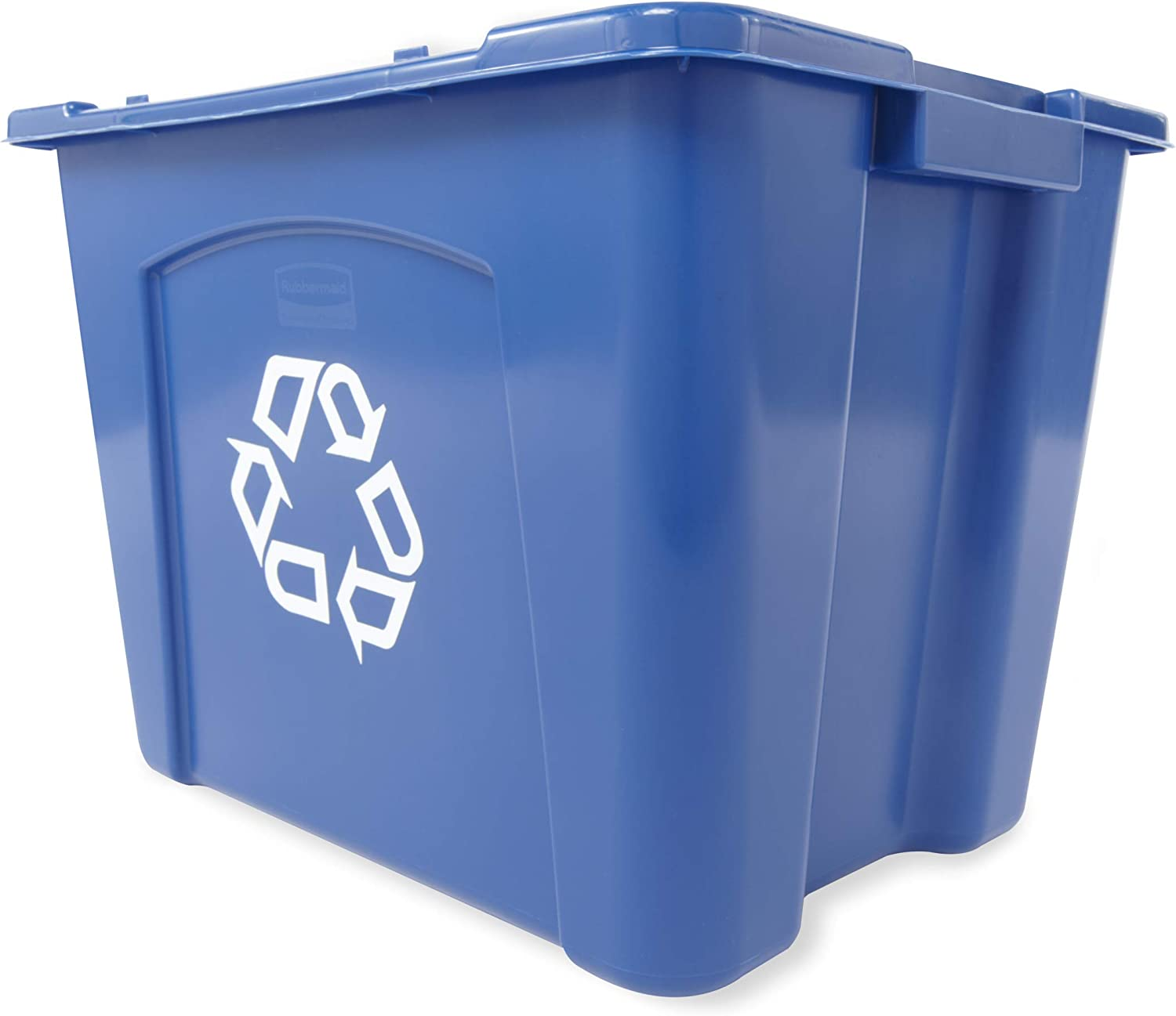 Rubbermaid Commercial Stackable Recycling Bin 14 Gallon Blue Fg571473blue In Home Recycling Bins Amazon Com Computers Accessories