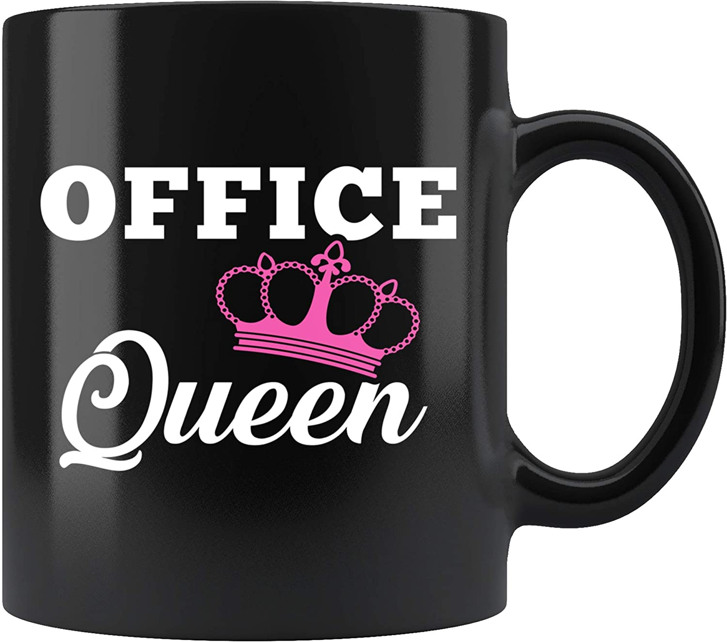 Office Queen Mug 11oz in Black - Funny Officemate Coworker Gift