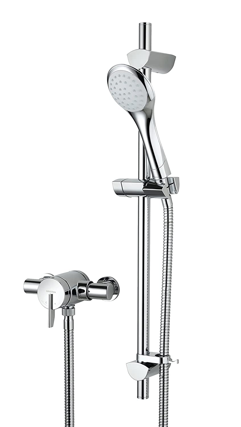 Bristan SOQ2 SHXAR C Sonqiue 2 Thermostatic Surface Mounted Shower Valve with Adjustable Riser - Chrome