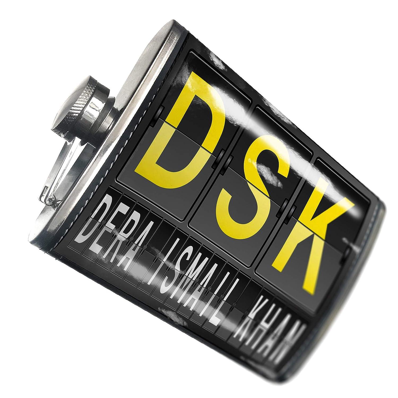 8オンスフラスコステッチDSK Airportコードfor Dera Ismail Khanステンレススチール – Neonblond   B00QQVH0P0