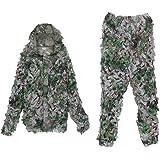 Uni que Bella 3D Ghillie Suit Woodland Camouflage Camo camouflage Vêtements chasse Free Size