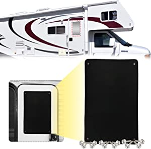 Q QUNSUNUS Upgrade RV Camper Door Windshield Shade 3-Layer RV Entry Door Window Sunshade Cover Motorhome Privacy Canvas Sun Blackout 16