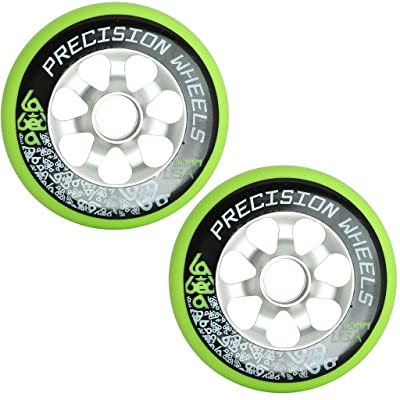 110mm Pro Scooter Wheel 2-Pack Labeda Precision Aluminum Core Green USA Made : Sports & Outdoors