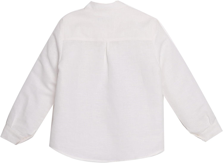 CAMISA niño blanco roto GALÁN _ camisa niño cuello mao, camisa niño lino, camisa niño arras, camisa niño vestir: Amazon.es: Ropa y accesorios