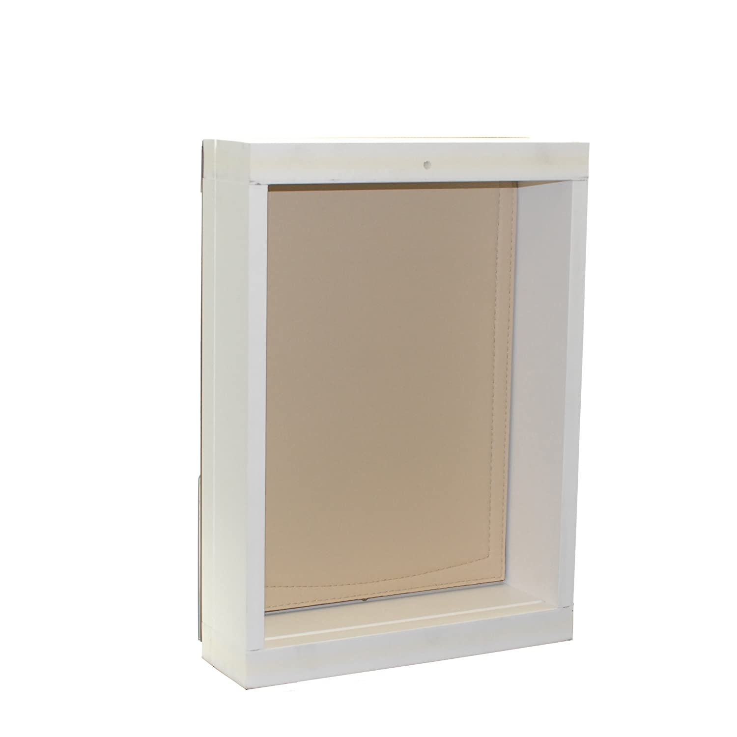 (Medium) Freedom Pet Pass Wall-Mounted Energy-Efficient, Extreme Weather Dog Door with Insulated Flap